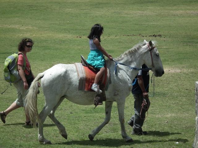 Maria Pilar a cavallo